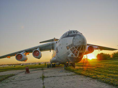 Military, Aircraft, Plane, Aviation, Sunset, Vintage