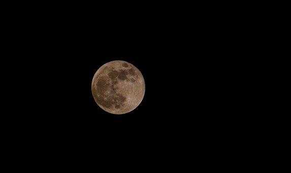 Full Moon, Sky, Night, Blood Moon, Red Moon, Moon