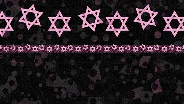 Star Of David, Pattern, Bat Mitzvah, Hanukkah, Black
