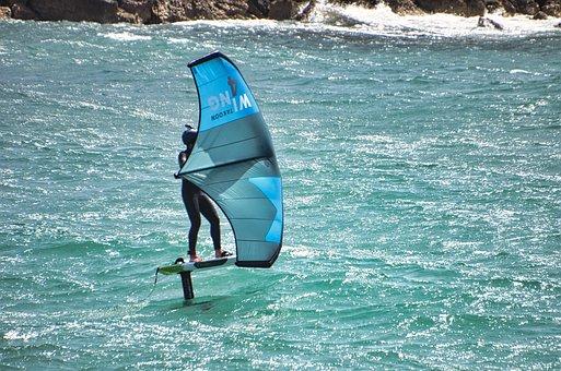 Kitesurfing, Ocean, Sea, Surf, Surfer, Kitesurfer