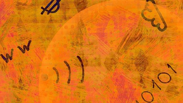Internet, Doodle, Orange, Abstract, Pattern, Online