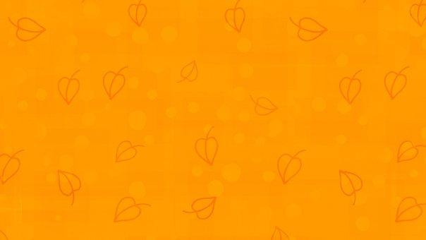 Leaves, Doodle, Orange, Pattern, Autumn, Fall, Banner
