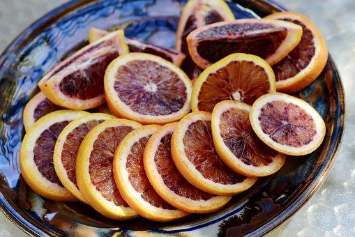 Blood Orange, Fruit, Food, Citrus, Orange, Slices, Ripe