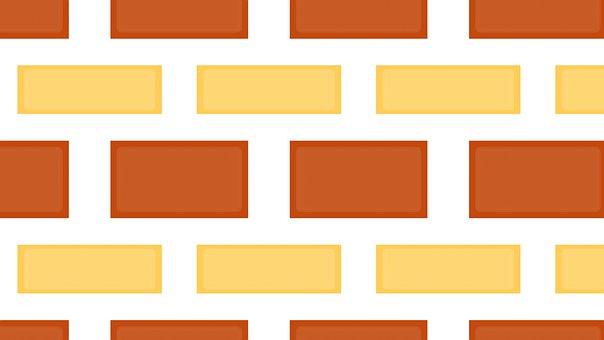Brick, Wall, Pattern, Stone, Orange, Brown, Yellow