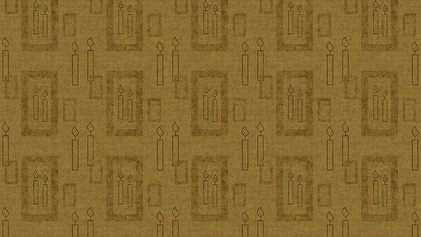 Candles, Brown, Digital Paper, Pattern, Parchment