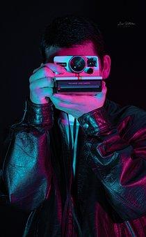 Man, Camera, Polaroid, Capture, Polaroid Camera