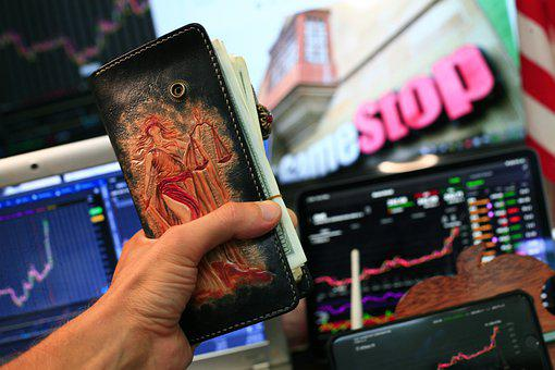 Cash, Dollars, Stock Market, Charts, Gamestop, Stock