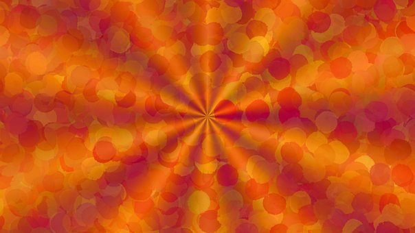 Circles, Pattern, Orange, Abstract, Dots, Dotted, Spots