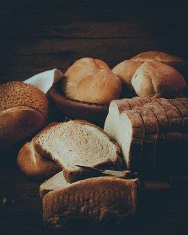 Bread, Food, Bakery, Loaf, Buns, Slices, Baked, Meal