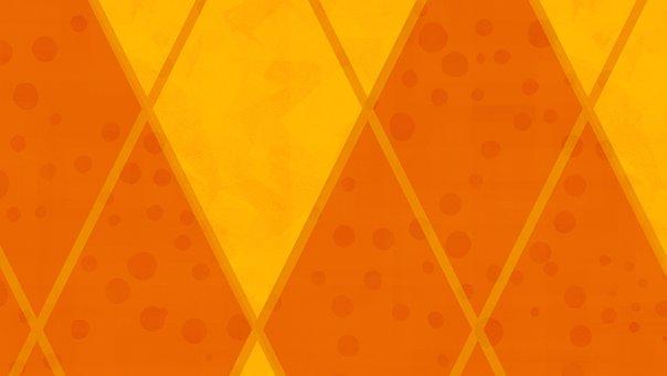 Rhombus, Mosaic, Orange, Pattern, Abstract, Geometric