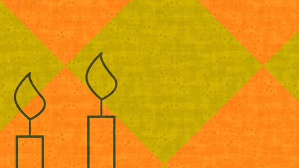 Candles, Abstract, Orange, Green, Flame, Candlelight