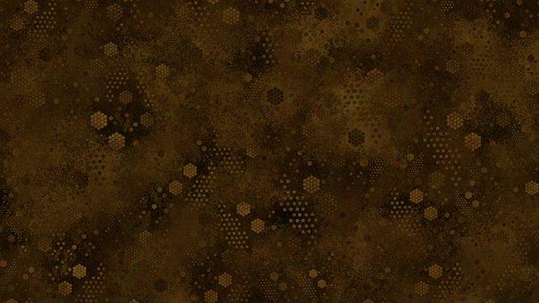 Hexagon, Pattern, Digital Paper, Brown, Dark, Parchment