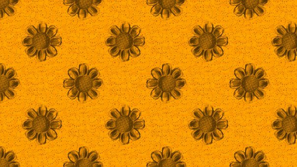 Flowers, Pattern, Orange, Brown, Dotted, Autumn, Fall