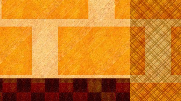 Rectangle, Pattern, Orange, Gold, Brown, Abstract