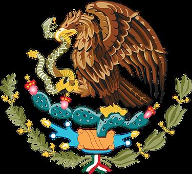 Mexico, Emblem, Eagle, Snake, Cactus, Flag, United