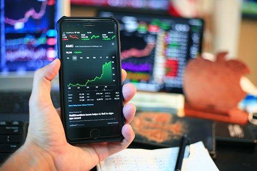 Stock Market, Chart, Trading, Stocks, Mobile Phone