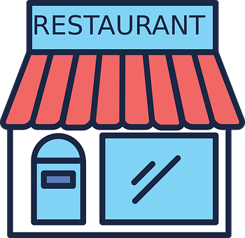 Restaurant, Building, Icon, Facade, Shop, Store, Dining