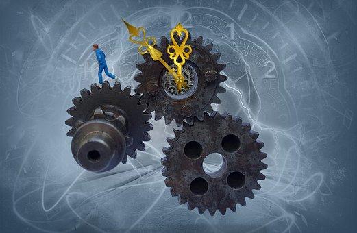 Gears, Industry, Race, Time, Mechanics, Automation