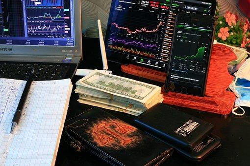Cash, Dollars, Stock Market, Charts, Trading, Stocks