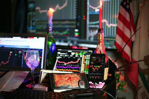 Wallet, Charts, Stock Market, Trading, Stocks, Dow