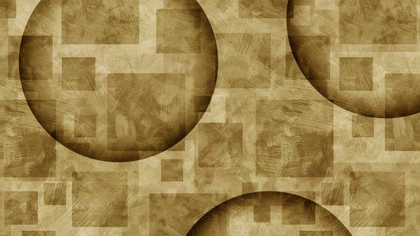 Abstract, Circles, Brown, Pattern, Monochrome
