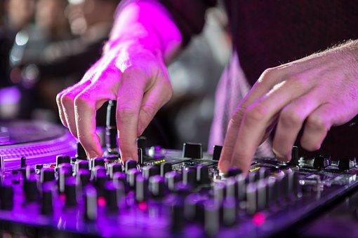 Dj, Mixer, Turntable, Hands, Audio Equipment