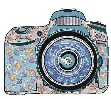 Camera, Ocean, Design, Sea, Beach, Photographer, Travel