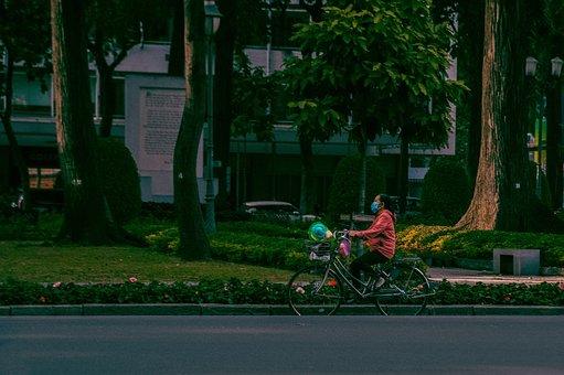 Bicycle, Bike, Street, Road, City, Vietnam, Vintage
