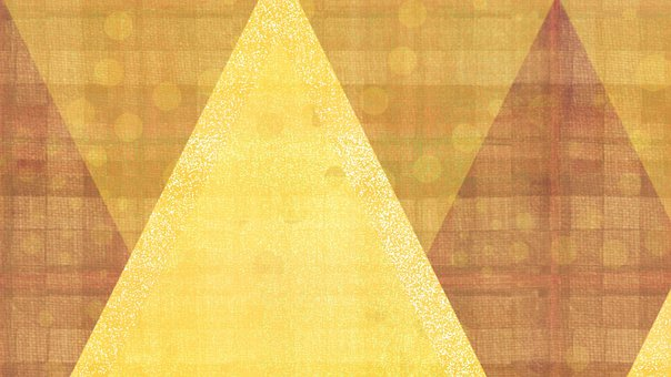Triangle, Abstract, Pattern, Yellow, Mustard, Brown