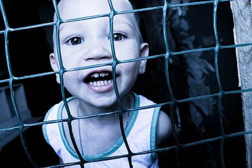 Child, Kid, Smile, Playful, Childhood, Innocence, Fence