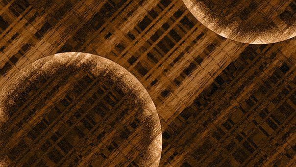 Abstract, Circle, Brown, Pattern, Lines, Fabric
