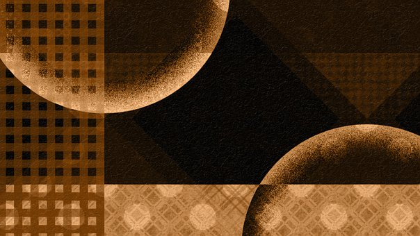 Circle, Pattern, Brown, Dark, Abstract, Monochrome