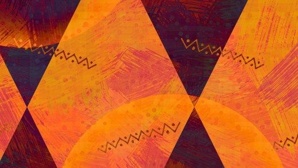 Rhombus, Crystal, Diamond, Orange, Thanksgiving, Autumn