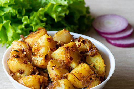Potatoes, Curry, Dish, Meal, Food, Cuisine