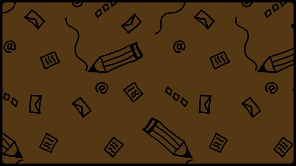 Pencil, Mail, Doodle, Pattern, Writing, Brown, Letter