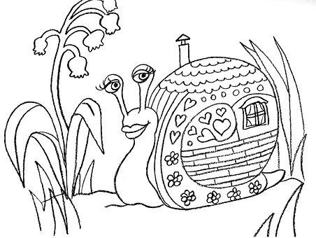 Snail, Shell, House, Plants, Escargot, Flowers, Animal