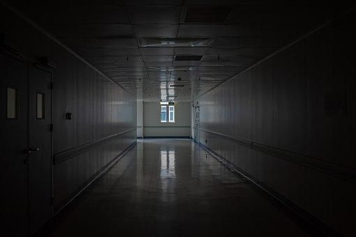 Hospital, Dark, Hallway, Corridor, Passageway