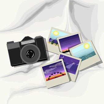 Photographs, Camera, Lens, Memories, Souvenir