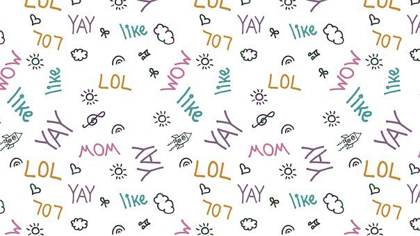 Joy, Doodle, Pattern, Yay, Lol, Wow, Like, Colorful