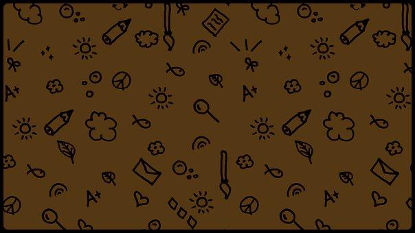 Kindergarten, Doodle, Pattern, Childhood, Sun, Nature
