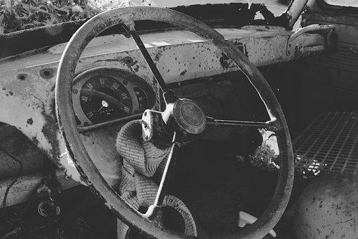 Car, Old, Broken, Dilapidated, Abandoned, Oldtimer