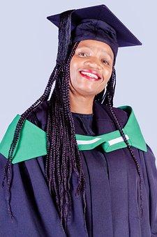 Graduate, Student, Woman, Portrait, Academic Dress