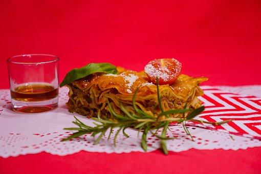 Lasagna, Pasta, Meal, Entree, Savory, Food, Eat