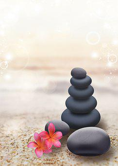 Stone, Pebble, Sand, Flowers, Petals, Spa