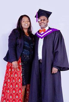 Graduate, Man, Woman, Portrait, Student, Academic Dress