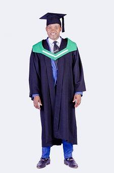 Graduate, Student, Man, Portrait, Academic Dress