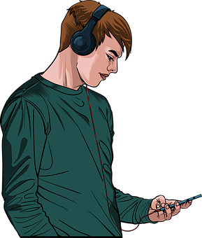 Teenager, Boy, Young, Headphones, Mp3, Human, Person