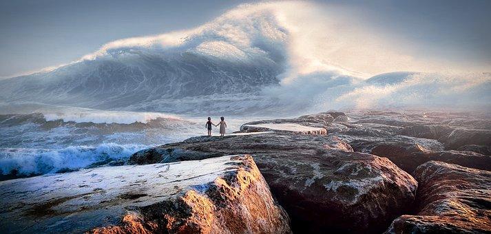 Sea, Waves, Fantasy, Tsunami, Water, Ocean, Children
