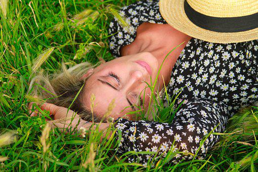 Woman, Rest, Grass, Meadow, Girl, Relaxation, Leisure