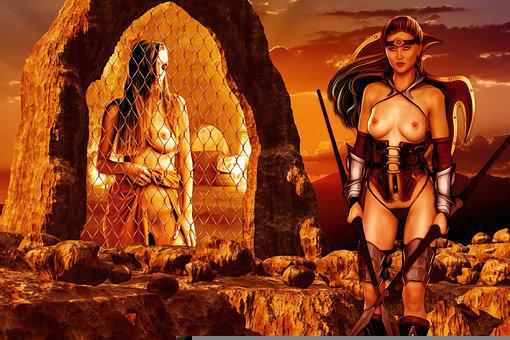 Women, Guardian, Prisoners, Nude, Young, Portal